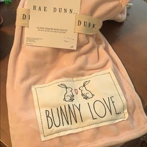Rae Dunn Easter throw blanket with patch
